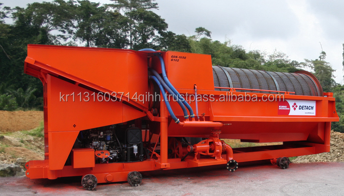GOLD DUST SEPARATOR(ALLUVIAL MINE) - GDS-105E and GDS-104E MODEL, Production Capacity : 120ton/hour and 60ton/hour - DETACH