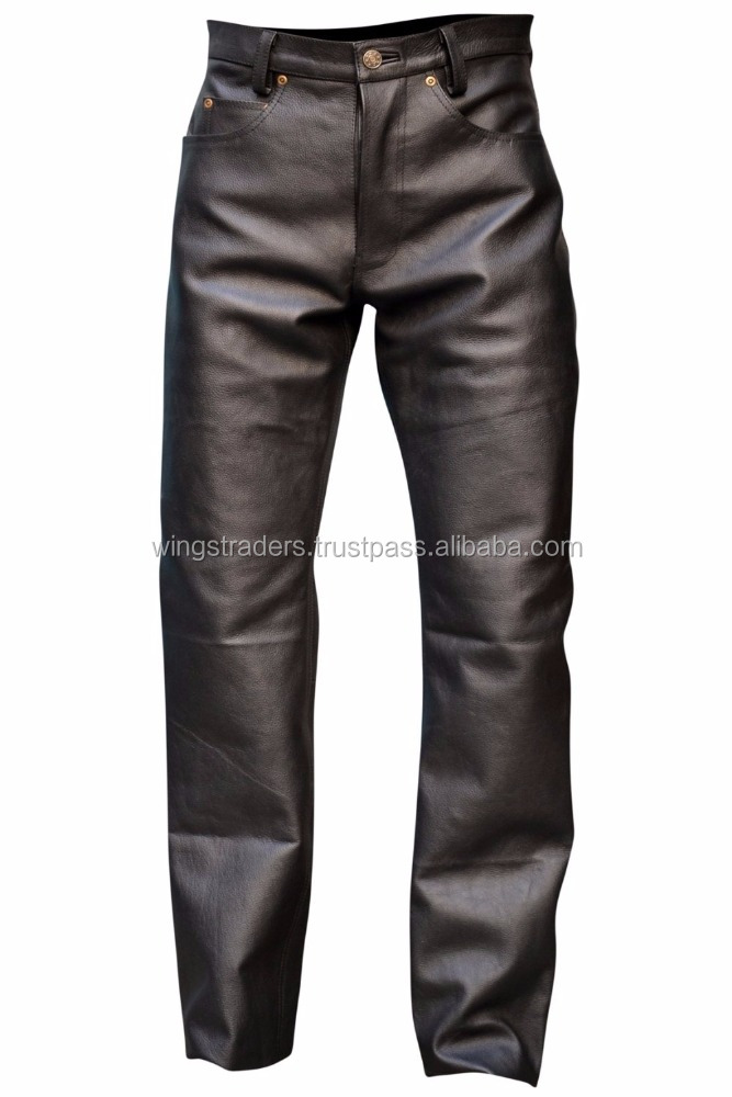 New Arrival Men Genuine Leather Pant