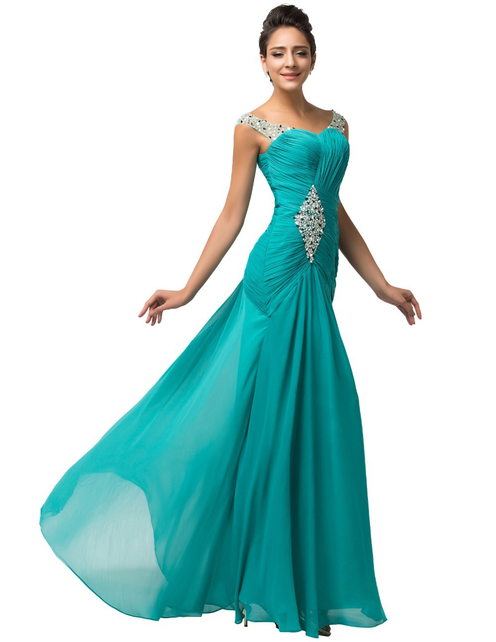 turquoise evening dresses