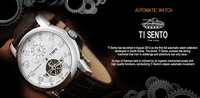 Automatic Ti Sento Brand Dress Fashion Watch For Men Stainless ...