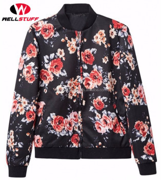 Floral Printed Bomber Jackets - Women Bomber Jackets - Latest Dye ...