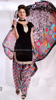 66251f12eb 2016 Indian Cotton Patiyala Salwar Kameez Material-Patiyala Dress Material  - Wholesale Printed Cotton Suit