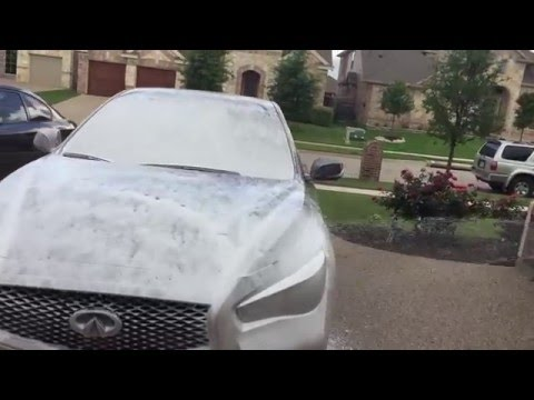 Snow Foam Lance Car Wash on 2015 Infiniti Q50 S Hybrid RWD Q50S) Foam Cannon