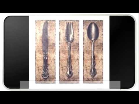 Get Quotations · Fork And Spoon Wall Decor   Beds And Headboards