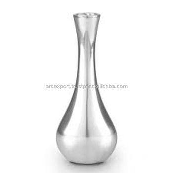 Aluminum Silver Plated Cast Flower Vases Buy Aluminum Silver