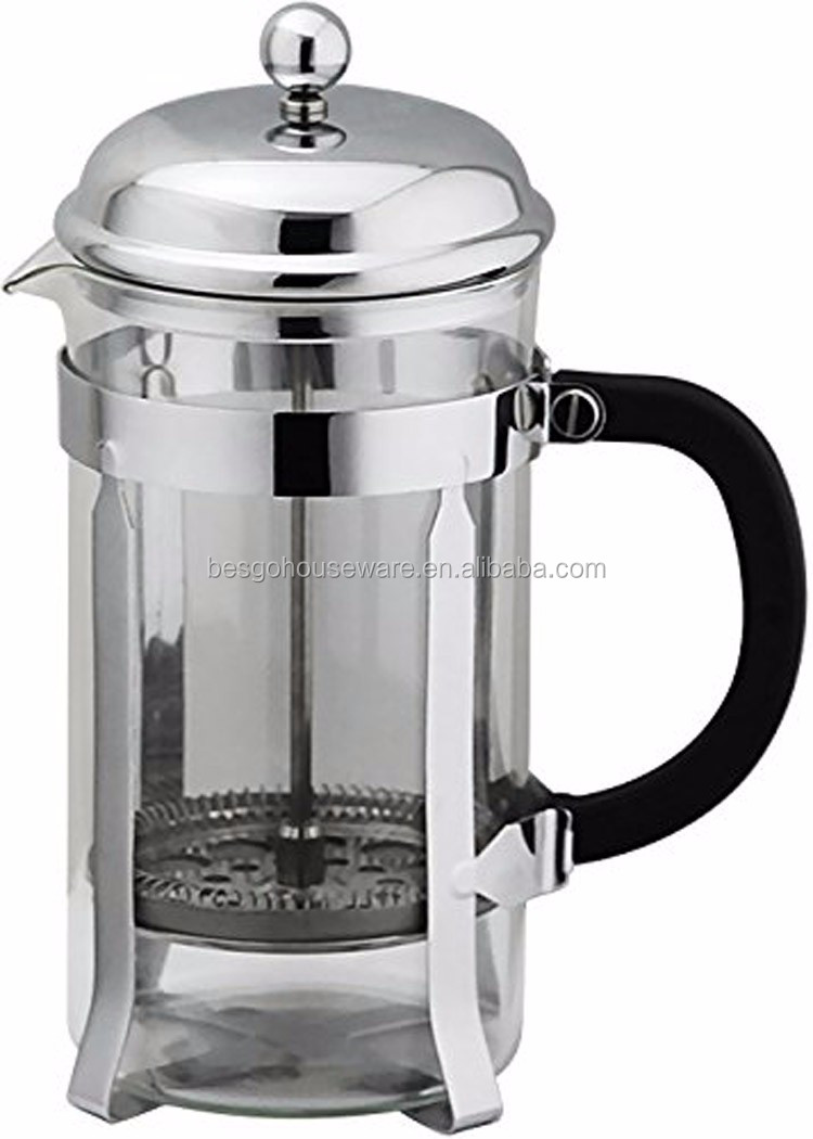 wholesale borosilicate glass coffee plunger stainless steel french press buy stainless steel. Black Bedroom Furniture Sets. Home Design Ideas