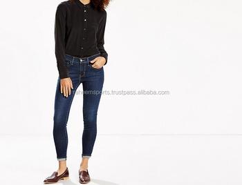Ladies Cropped Super Skinny Jeans - Buy Ladies Short Jeans Pants ...
