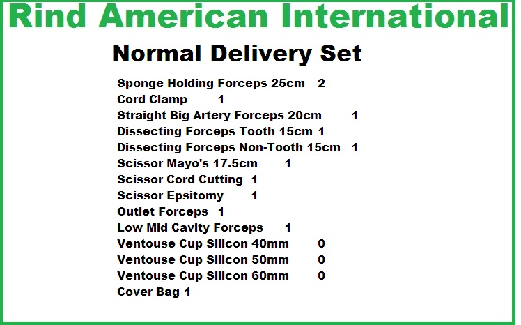 Surgical Instruments Normal Delivery Set Surgical Delivery