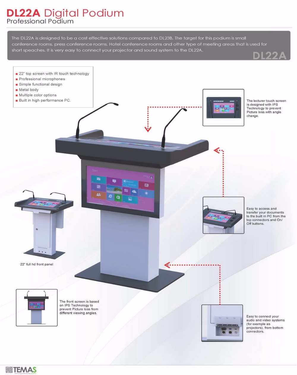 Digital Podium,Lectern For Education School Supply - Dl22a Smart Podium -  Buy Digital Podium,Smart Podium,Digital Lectern Product on Alibaba com
