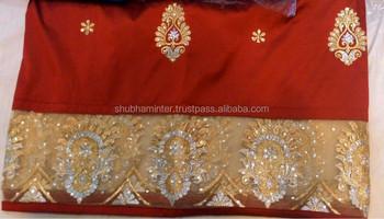 b59a653fa389b3 Stones Handwork Nigerian African New Design 100 % Raw Silk George Fabric  Wrapper