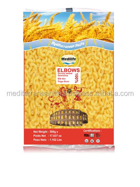 Elbow Pasta 100 Durum Wheat Semolina Flour Elbow Elbow Nb 1