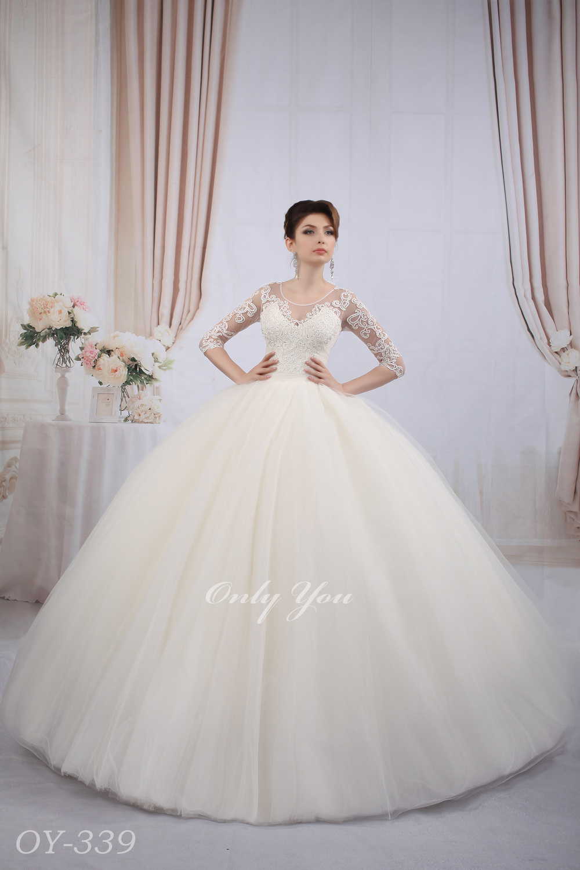 Closed Back Lace Wedding Dress