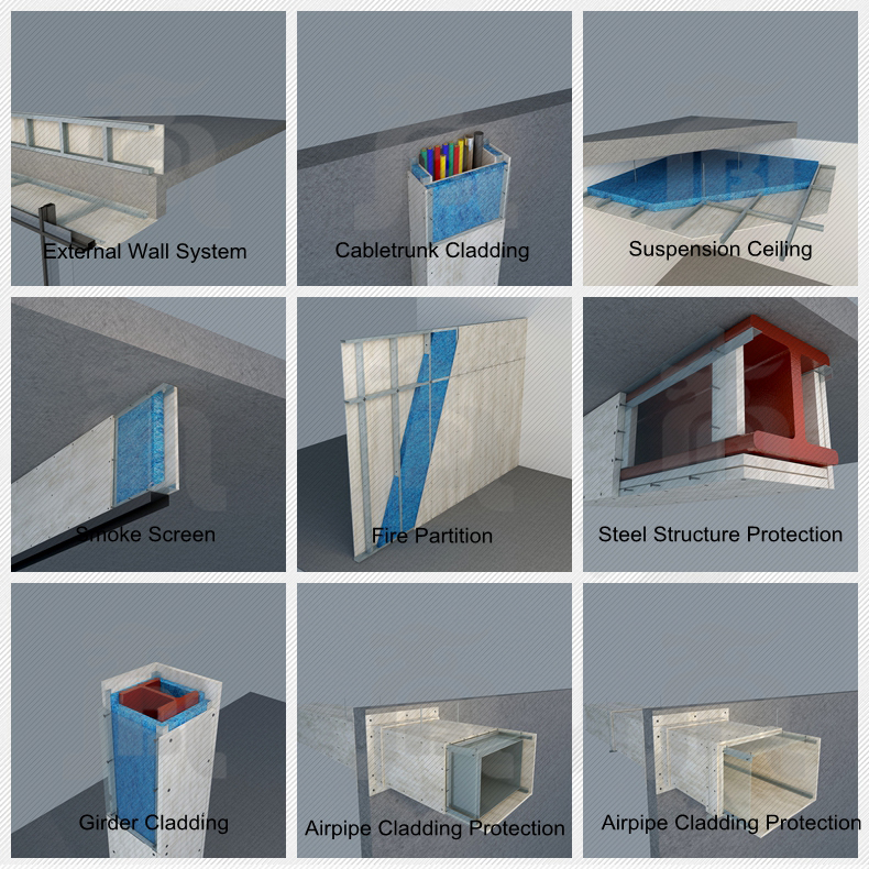 Fire rated calcium silicate board for steel beam cladding protection