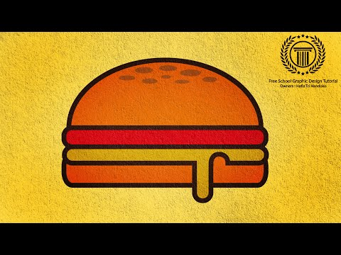 Adobe Illustrator Logo design / Burger Illustration / Burger Shape Logo Tutorial / Burger Vector