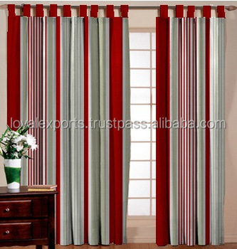 Traditional Wall Decorate Cotton Stripe Curtain Shower Striped