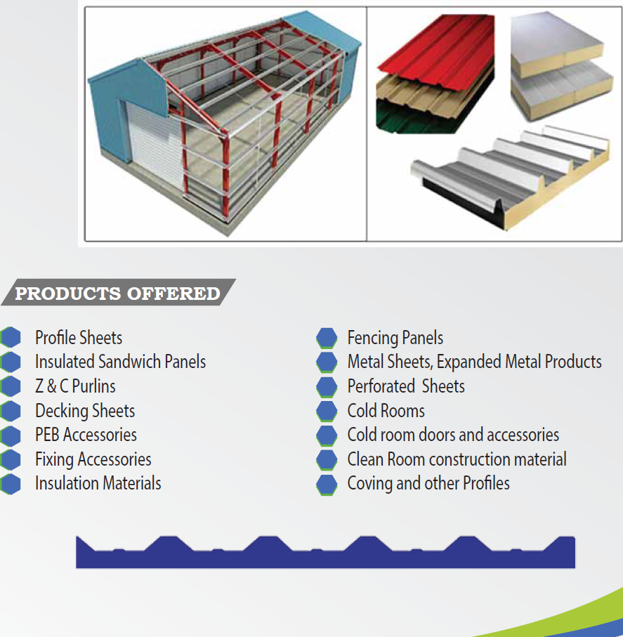 Sandwich Panels Types : Middle east based supplier of all kinds insulated