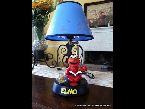 Sesame Street ELMO Animated & Talking Lamp Electric Light) 2002
