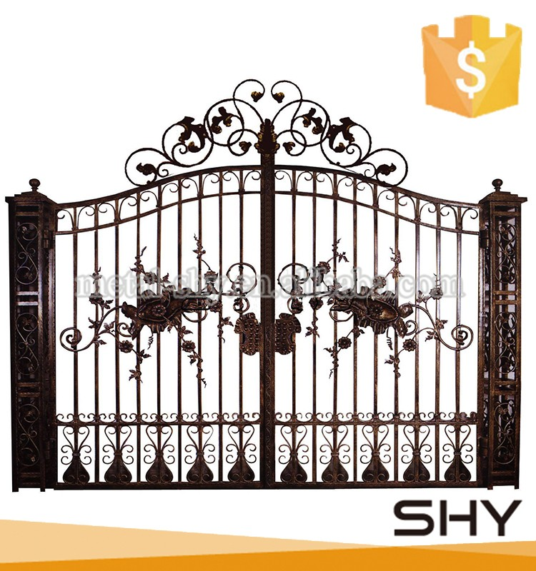 Used Wrought Iron Door Gates Raw Iron Fence Wrought