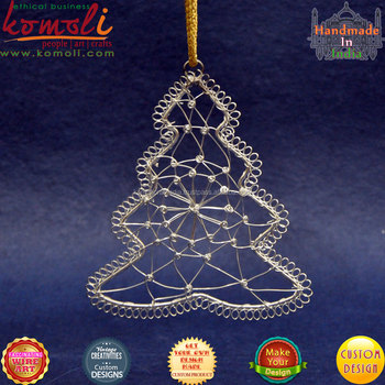silver 2018 christmas ornament tree design flat metal christmas ornaments - Metal Christmas Ornaments
