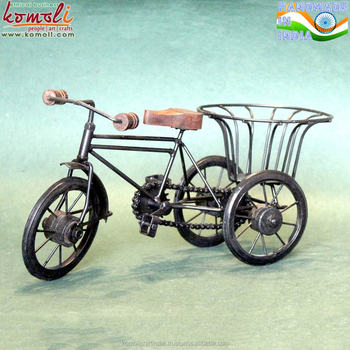 Wrought Iron Bicycle Home Decor Miniature Bike Metal Craft