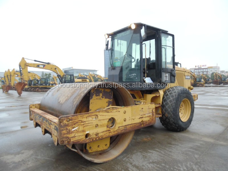 Used road roller cat CS533D, also CS433E,CS683E