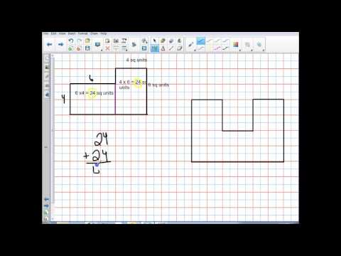 Finding Area of regular and irregular shapes
