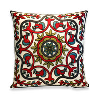 Beautiful Suzani Cushion Cover Handmade Embroidery Work Suzani Cushion Cover