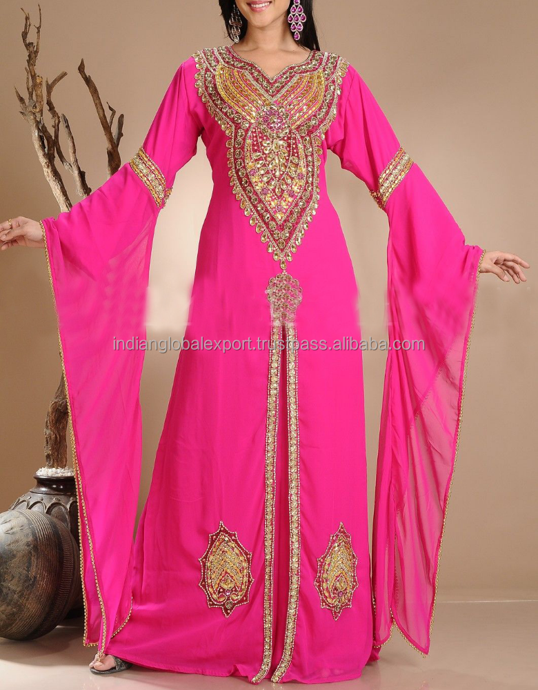 Elegante marokkaanse georgette kaftan fancy wedding gown dress voor vrouwen