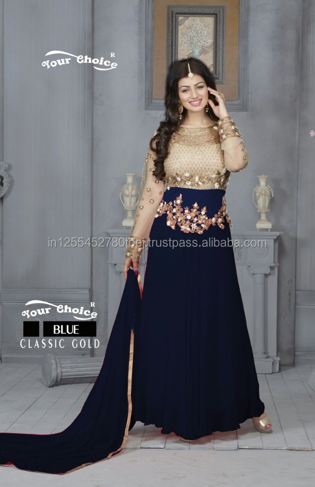 4707be7c0d69 Favoloso Elegante Abiti Indiani Anarkali Pakistani Indossare Abiti Partito Punjabi  Stile Abito Salwar Kameez ...