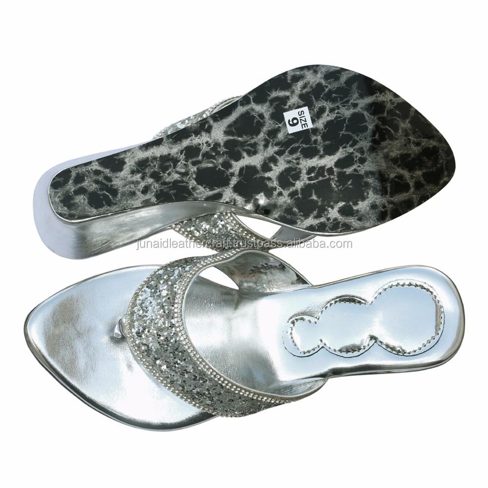 4cddff721ab8 New Design Ladies Fancy Sandal And Silver Jarkan Ladies Footwear ...