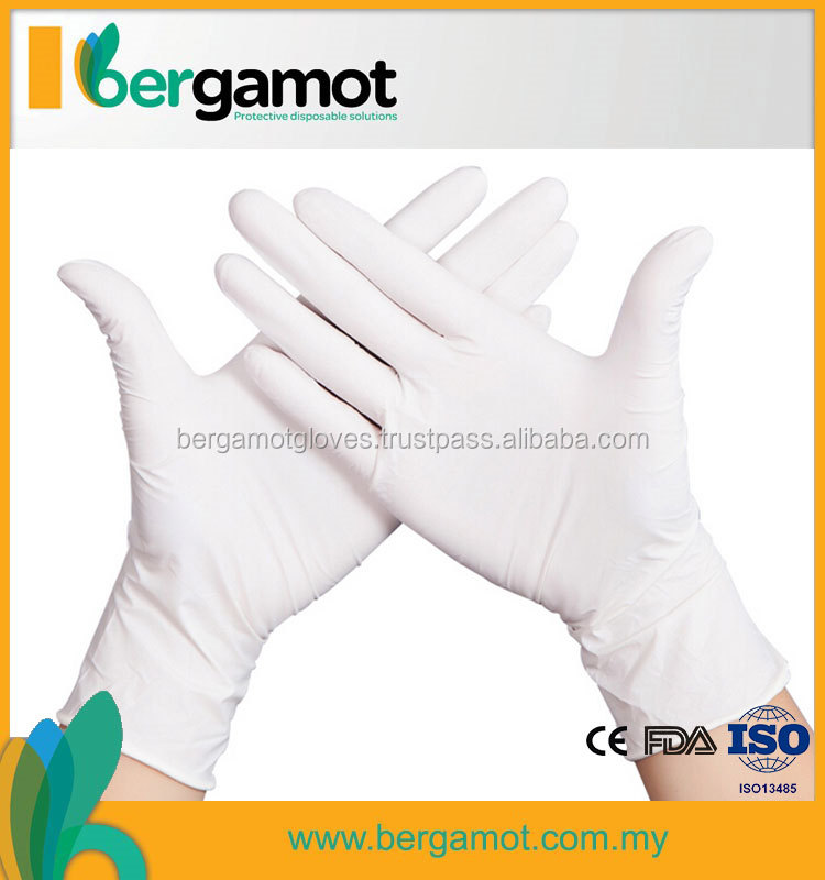 22gsm Cheap Disposable Latex Examination Gloves Medical