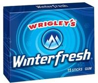 Wrigleys/5 sticks sugar free chewing gum/Wrigleys Winterfresh