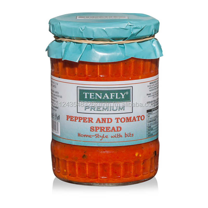 TENAFLY Premium Pepper and Tomato Spread - Home-style with bits - 560g