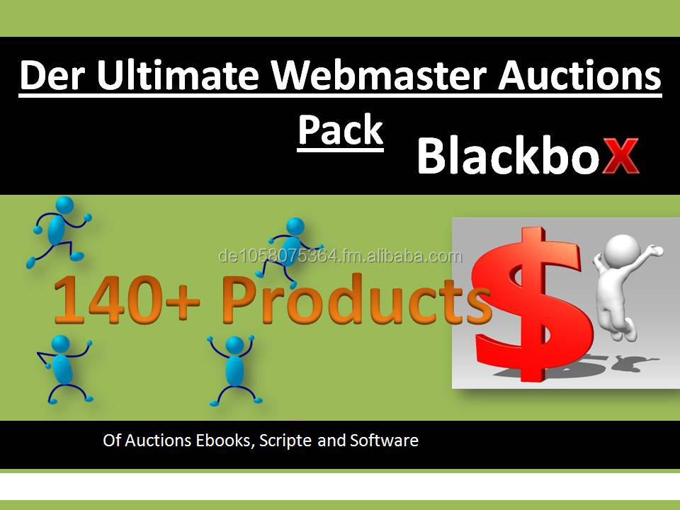 Webmaster Auctions Pack 140+ Products/ Ebooks/ Software MMR/PLR