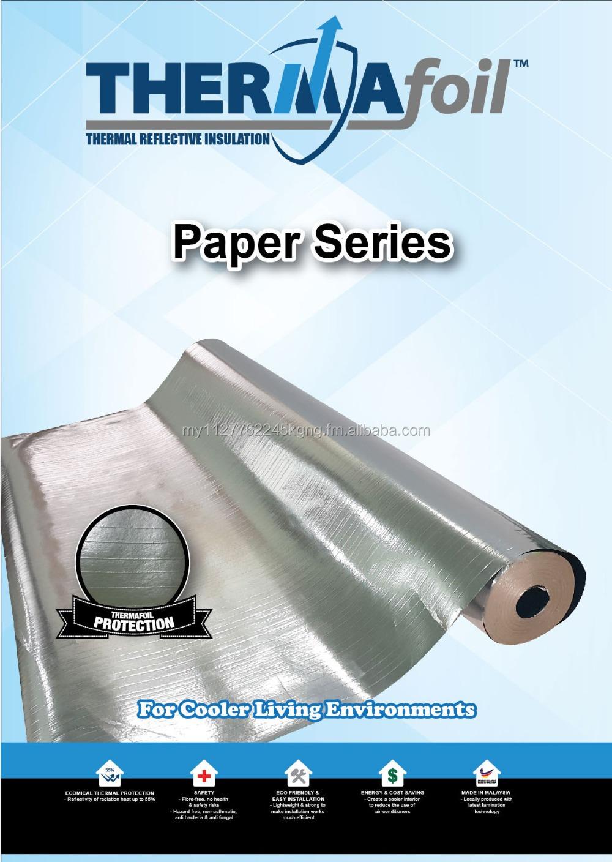 Paper Aluminium Foil Radiant Barrier Thermafoil Heat