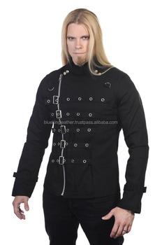 Goth clothing mens bondage top