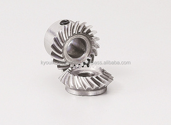 Spiral Miter Gear Module 1.0 Carbon steel Ratio 1 Made in Japan KG STOCK GEARS
