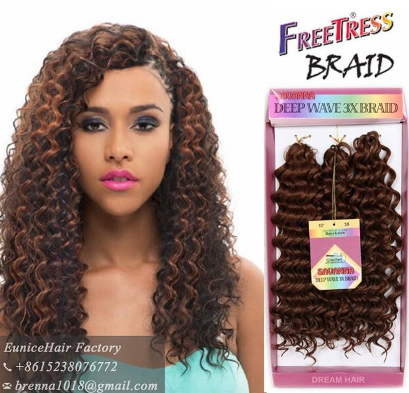 Good Quality Wholesale Price Freetress Crochet Braids 3x Crochet Box