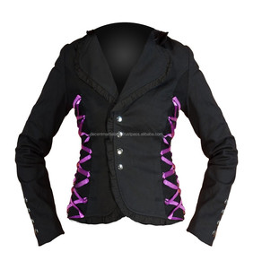 Ladies Black Modern Formal Gothic Jacket Black