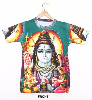 37879e42 Indian Hindu Gods & Ganesha DIVINE Hindu God Deity T shirt Psychedelic  Unisex wear Hippie Dj
