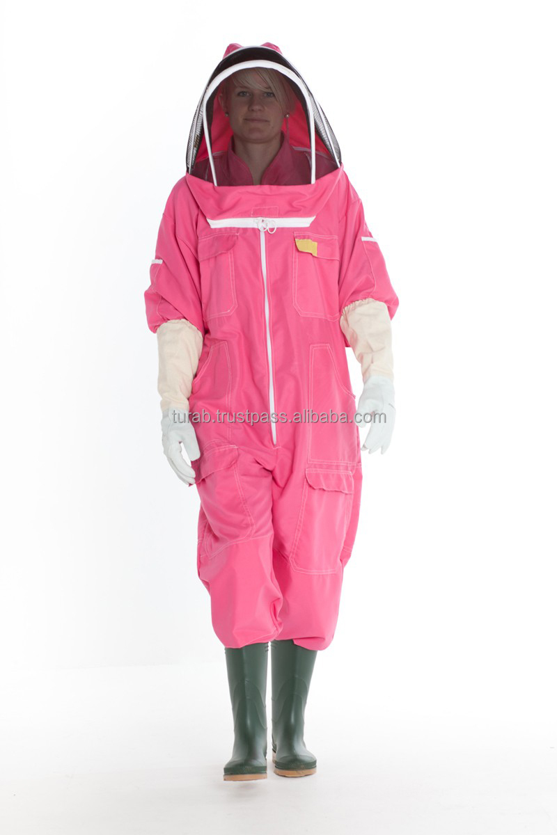Pink Color Women Cotton Bee Keeping Protective Suit With