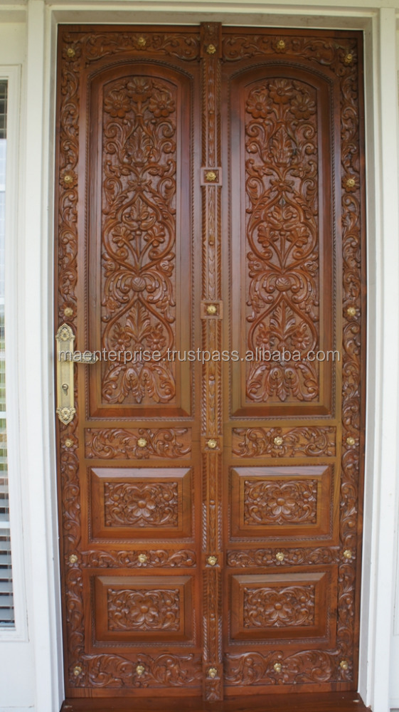 Indian main door design images for Wooden double door designs for main door