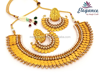 Ginni Necklace set - One Gram Gold Plated Wholesale South Indian Temple jewellery - Indian antique  sc 1 st  Alibaba & Ginni Necklace Set - One Gram Gold Plated Wholesale South Indian ...