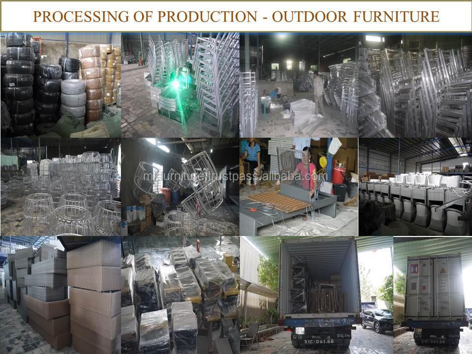 Good Bamboo Rattan Wicker Garden Sofa Set Furniture Mm Alu Frame With  Powder Coated With Alu Sthle Garten