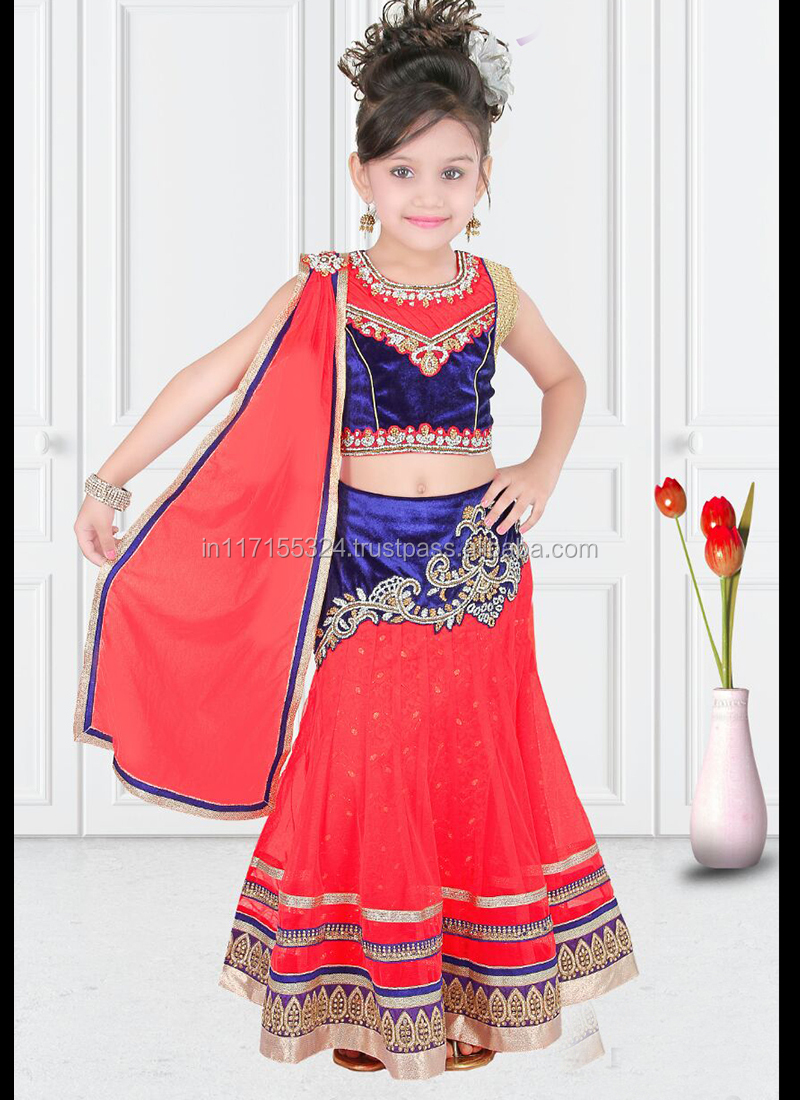 Designer Kids Lehenga Choli\ethnic Wear\fair Kids Wear Red Colour Net  Lehenga Choli - Buy Designer Kids Lehenga Choli 23139,New Collection For