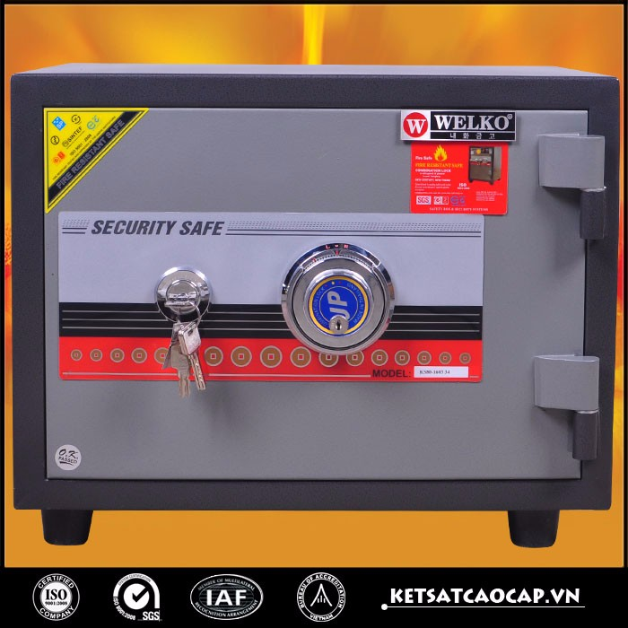 High quality Fireproof ammo metal gun safe for home and office - KS 80M DK