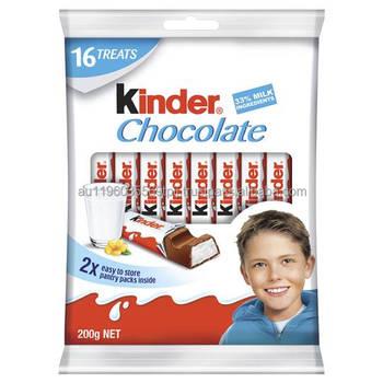 Kinder Chocolate Sharepack 16 Treats 200g - Buy Kinder,Chocolate ...