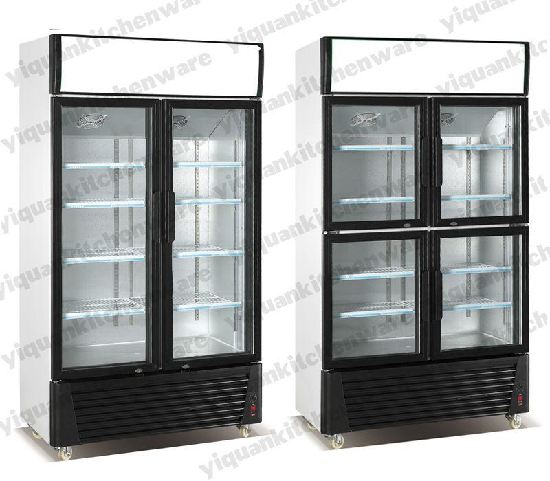 Cb saa meps top mounted 2 door upright standing display for 1 door display chiller