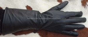 Top Quality Genuine Cow hide Leather Gauntlet Gloves 2017
