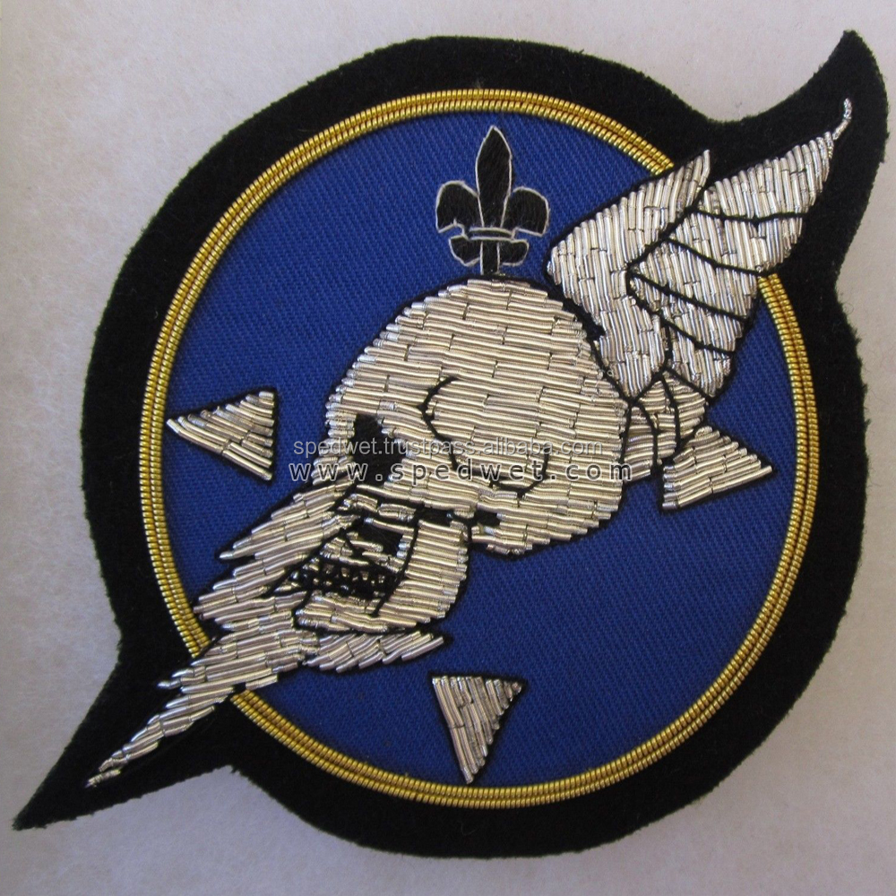 Hand made bullion patches crests 30th bomb squadron us air force veterans blazer badges